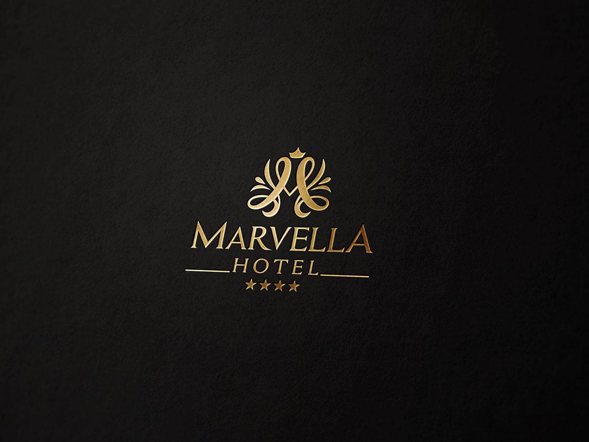 Thiết kế logo khách sạn 4 sao  Marvella tại Hà Nội