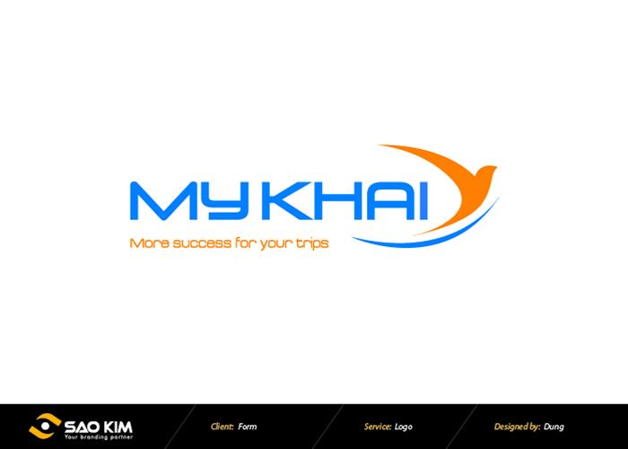 Thiết kế logo công ty cổ phần thương mại và dịch vụ Mỹ Khải tại Hà Nội