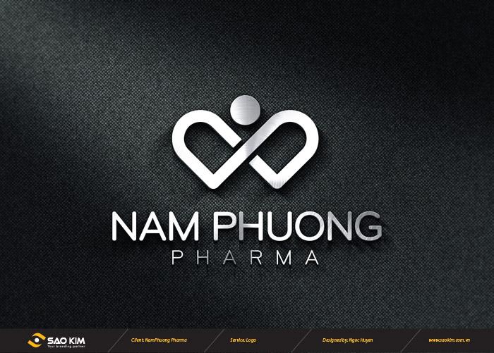 Thiết kế logo công ty mỹ phẩm Nam Phương tại Hà Nội
