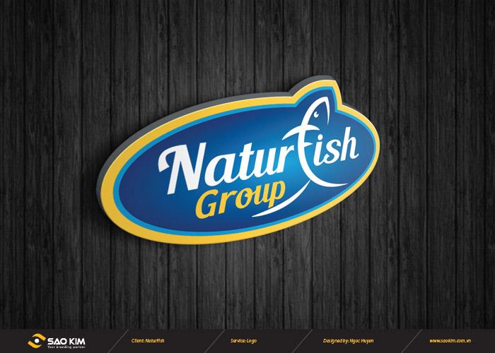 Thiết kế logo công ty chế biến thủy hài sản Naturfish tại Hà Nội