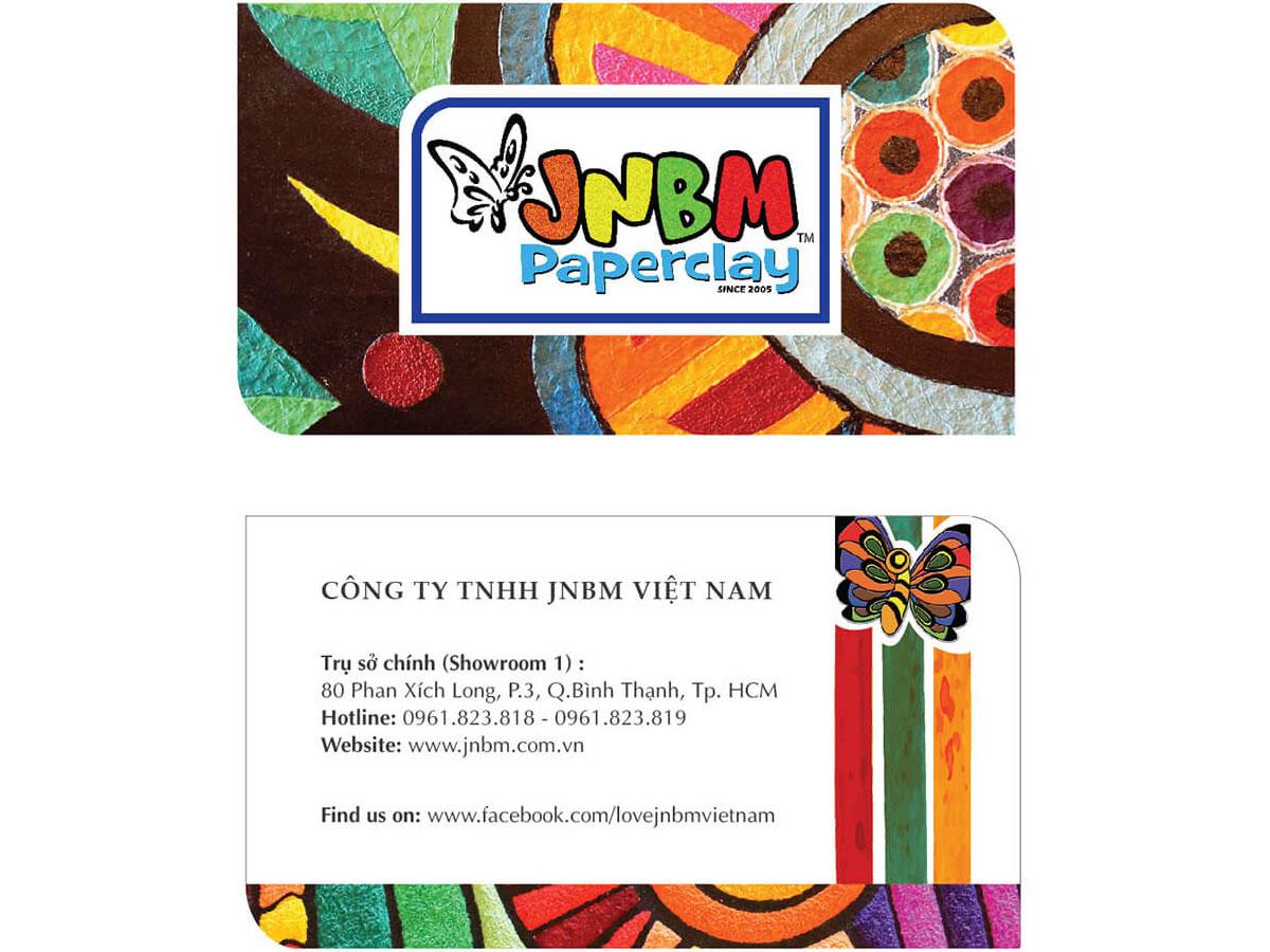 Thiết kế brochure tranh bột giấy JNBM tại TP HCM