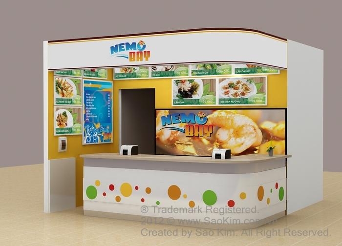 Sáng tạo tên thương hiệu và thiết kế nhận diện quầy hàng hải sản NEMO BAY tại Hà Nội, TP HCM