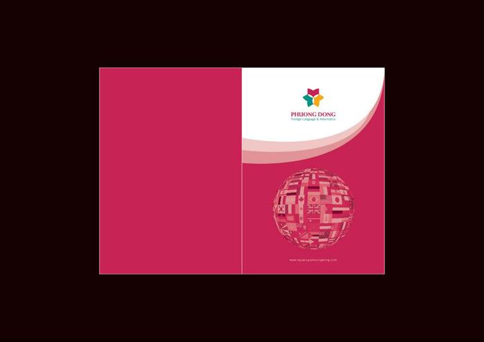 Thiết kế bộ nhận diện thương hiệu công ty cổ phần tin học Ngoại ngữ Phương Đông tại Hà Nội