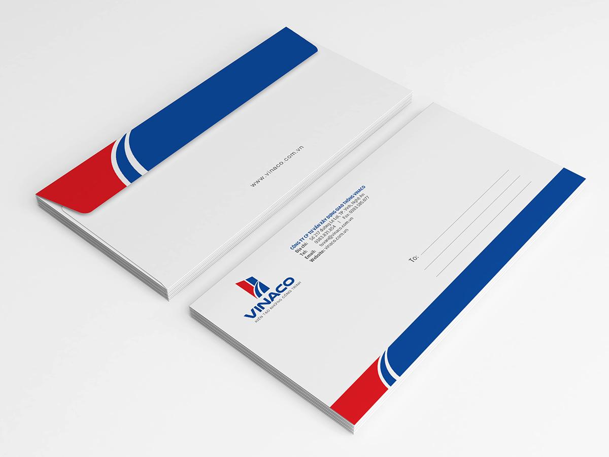 Thiết kế profile, bộ nhận diện công ty Vinaco tại Nghệ An