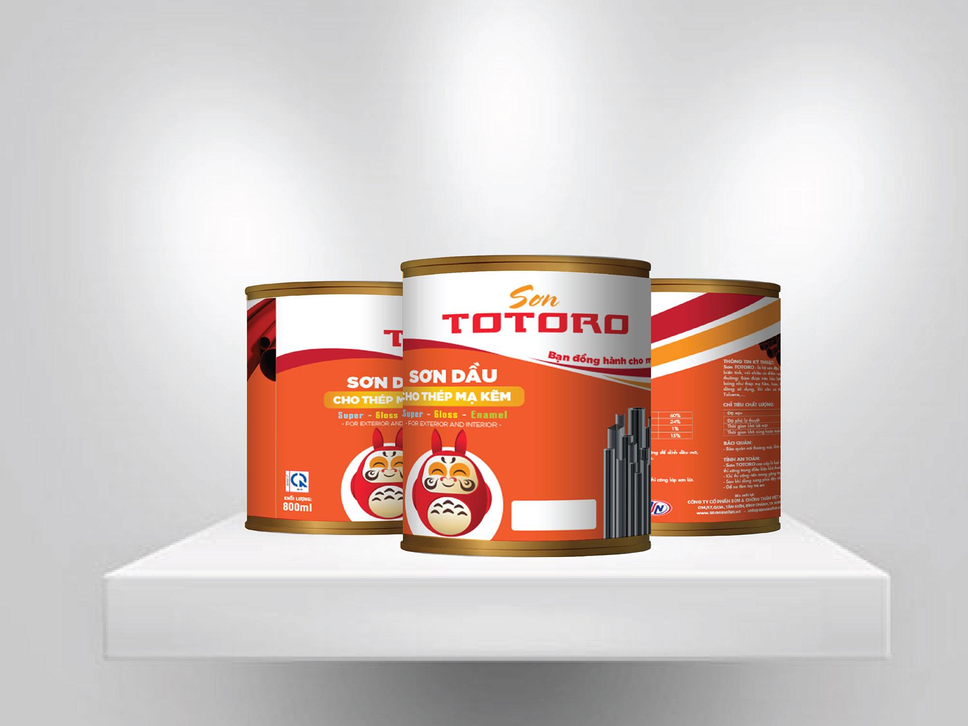 Thiết kế logo, bộ nhận diện thương hiệu & bao bì sản phẩm cho Công ty sơn Việt Nhật tại Hà Nội