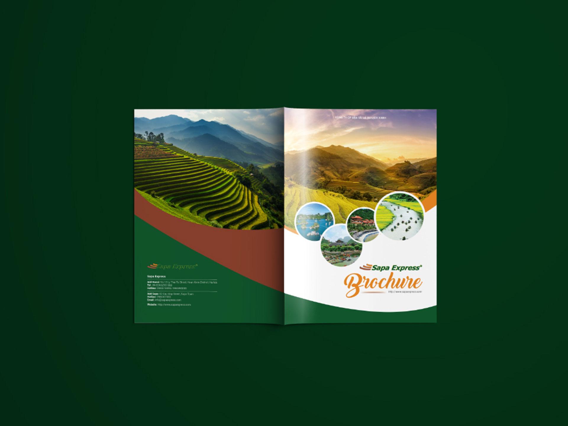 Thiết kế Brochure du lịch công ty Sapa Express tại Hà Nội, Lào Cai