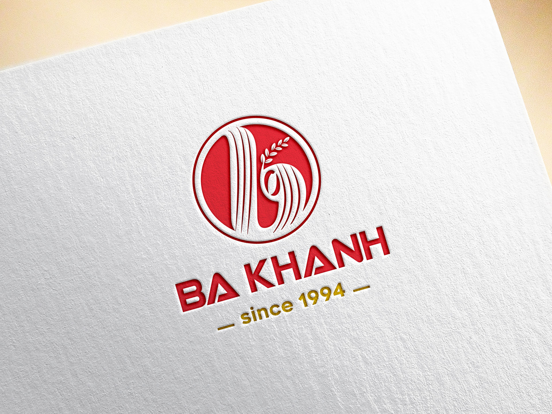 Thiết kế logo thương hiệu Cơ sở sản xuất Ba Khánh tại TP HCM