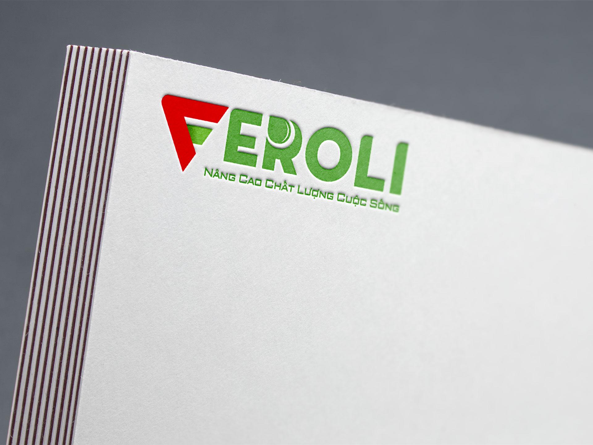 Thiết kế logo máy lọc nước Feroli tại Hà Nội