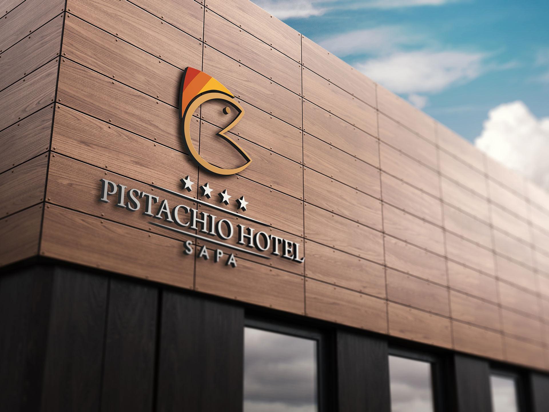 Thiết kế logo khách sạn Pistachio tại Hà Nội