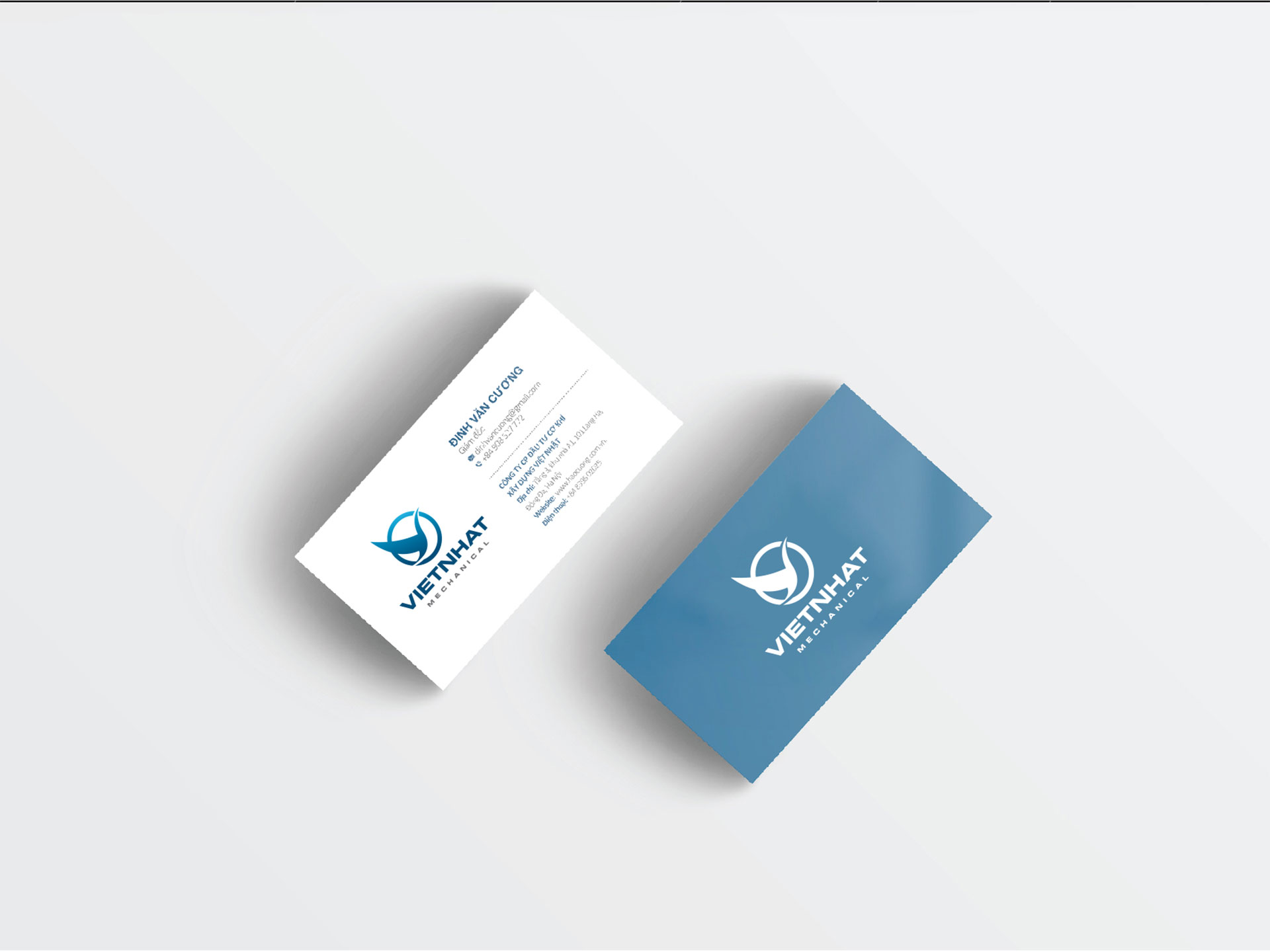Thiết kế logo thương hiệu Công ty Cơ khí Xây dựng Việt Nhật tại Hà Nội