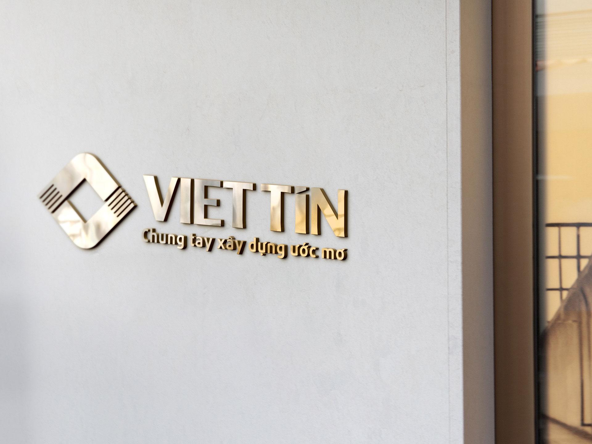 Thiết kế logo và bộ nhận diện thương hiệu công ty CPĐT Việt Tín tại Hà Nội