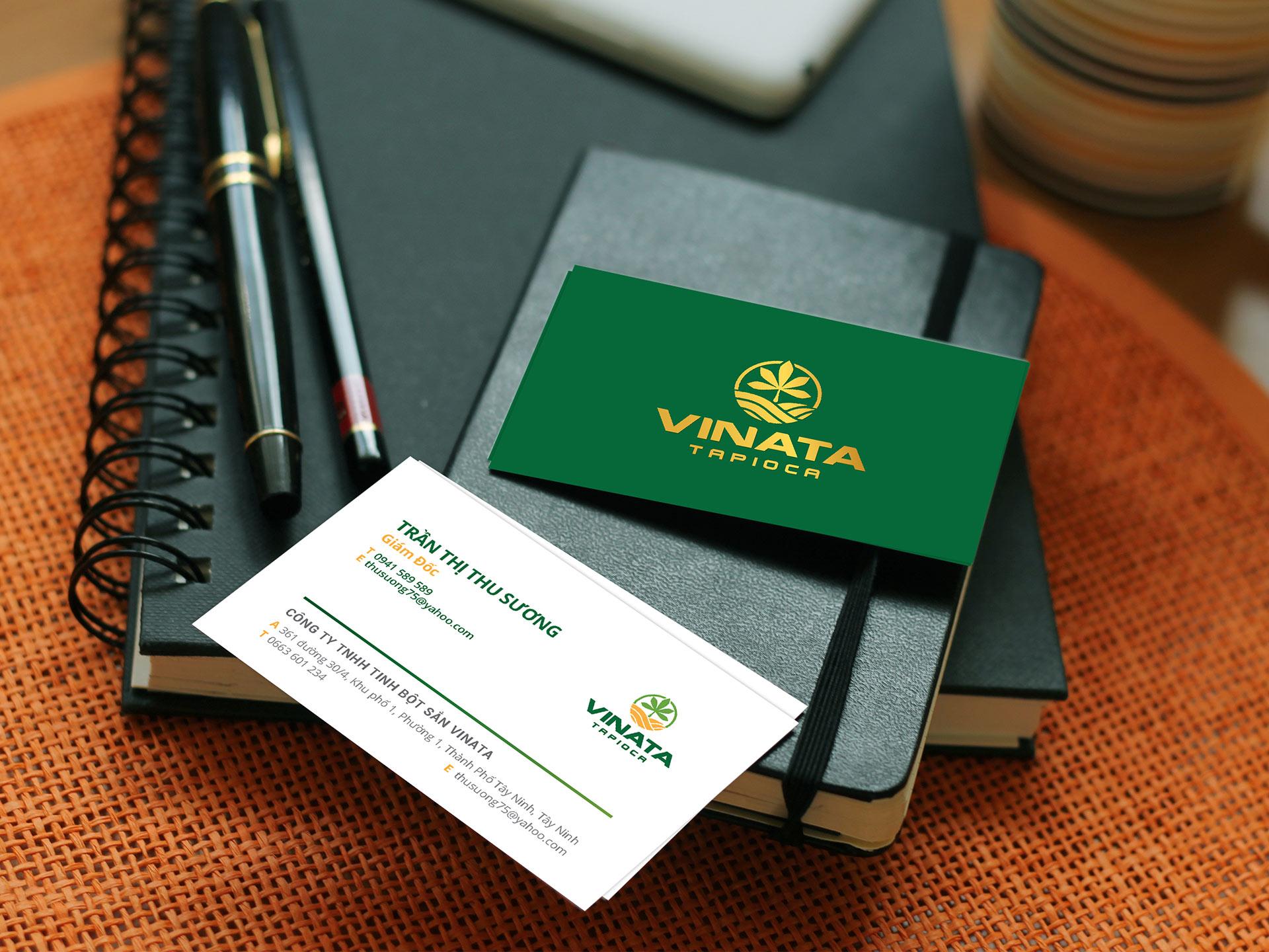 Thiết kế logo và bộ nhận diện thương hiệu Công ty TNHH Tinh bột sắn Vinata tại TP HCM