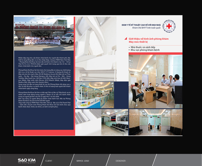 Thiết kế và in ấn brochure Phòng Khám Đa Khoa Sài Gòn tại TP HCM