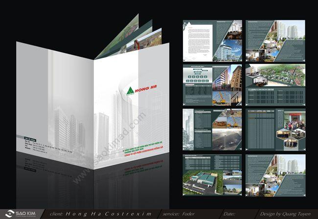 Dự án thiết kế profile công ty đầu tư xây dựng Constrexim Hồng Hà tại Hà Nội