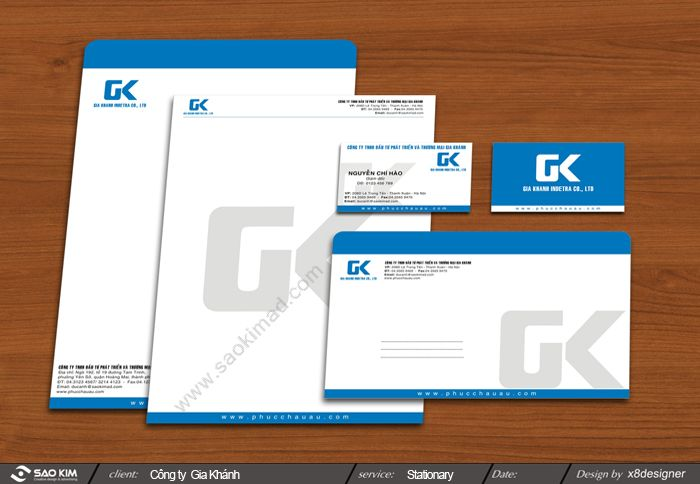 Thiết kế logo và hệ thống nhận diện cho công ty Gia Khánh tại Hà Nội