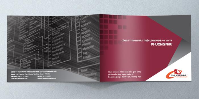 Thiết kế profile Công ty Phát triển công nghệ Viễn Thông và Tin Học Phương Như tại TP HCM