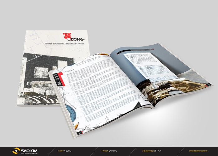 Thiết kế profile công ty nội thất quảng cáo Á Đông tại TP HCM