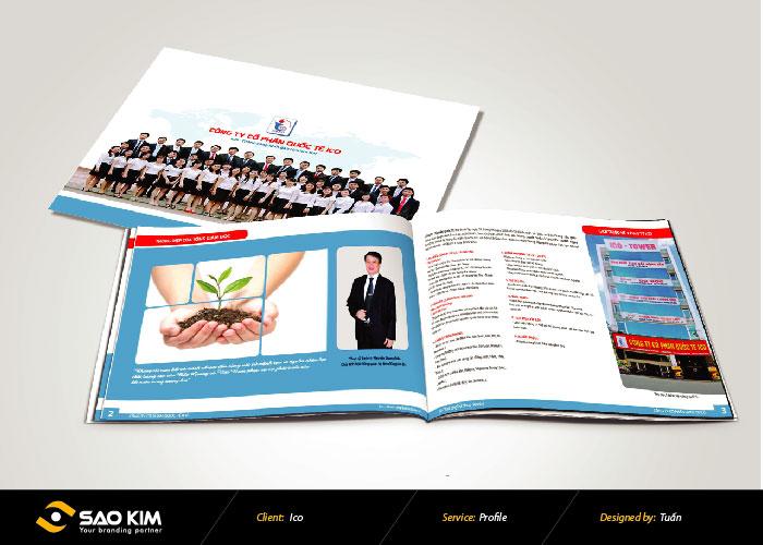 Thiết kế profile Công Ty Cổ Phần Quốc Tế ICO tại Bắc Giang