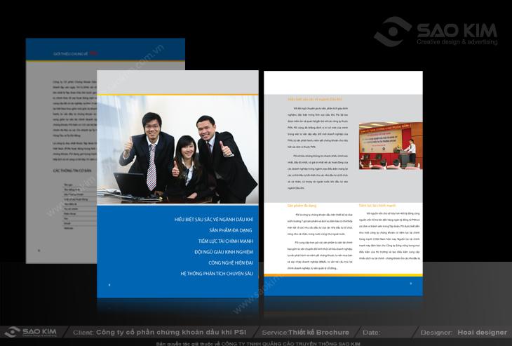 Thiết kế hồ sơ năng lực cho Công ty chứng khoán Dầu khí tại Hà Nội, TP HCM