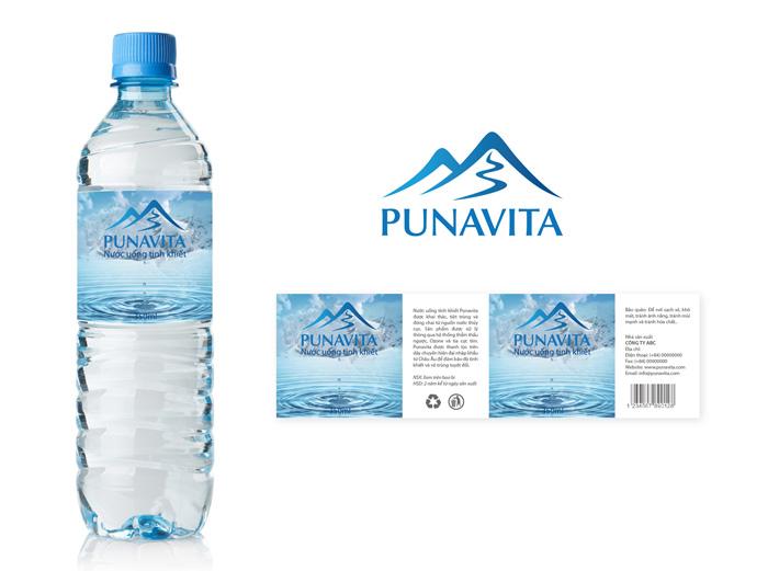 Thiết kế thương hiệu nước tinh khiết Punavita tại Hà Nội, TP HCM