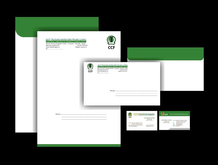 Thiết kế nhận diện thương hiệu quỹ tín dụng Nhân dân Trung Ương tại Hà Nội