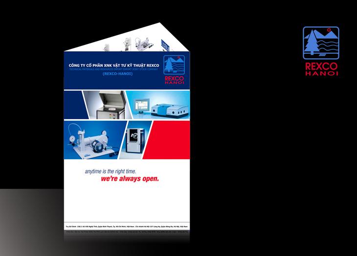 Thiết kế tài liệu truyền thông cho Rexco tại Hà Nội