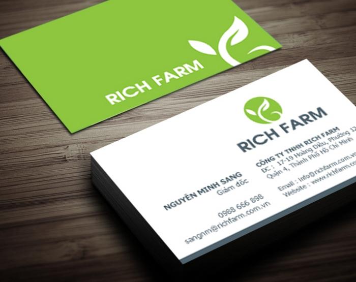 Thiết kế thương hiệu Công ty phân bón Rich Farm tại TP HCM