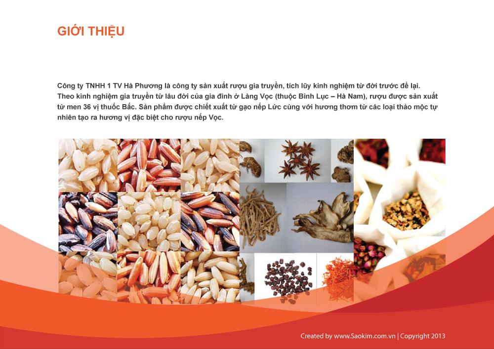 Thiết kế thương hiệu Rượu Nếp Vọc Hà Phương tại Hà Nam, Hà Nội, Hải Phòng