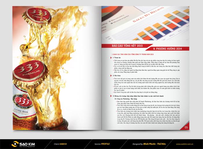 Thiết kế báo cáo thường niên SABECO 2014 tại TP HCM