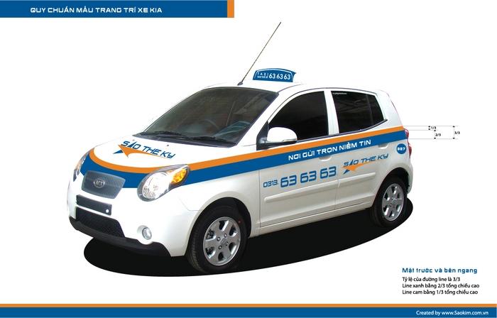 Thiết kế thương hiệu taxi tại Hải Phòng