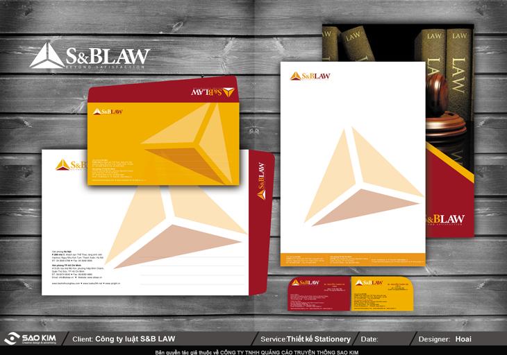 Thiết kế nhận diện thương hiệu công ty luật