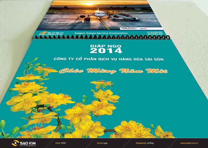 Thiết kế lịch tết 204 SCSC tại TP HCM
