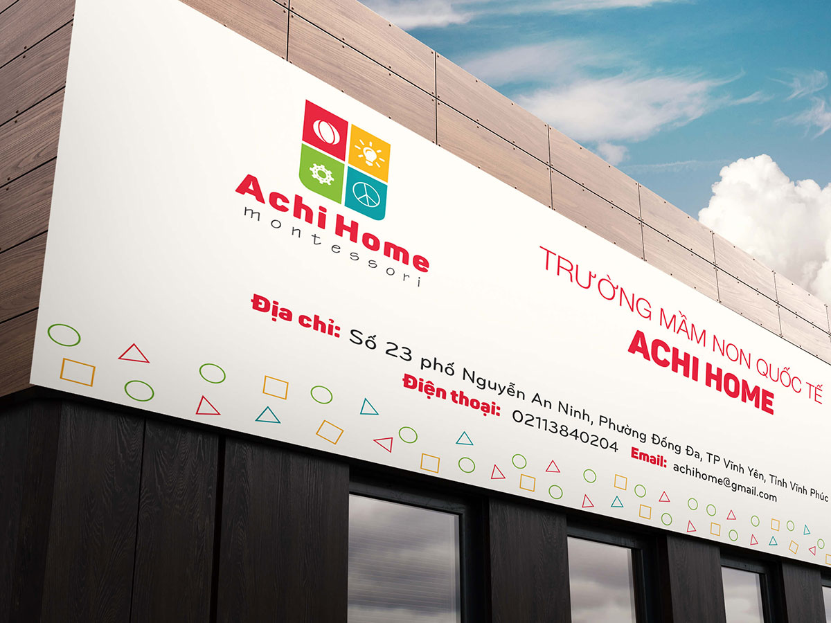 Xây dựng nhận diện thương hiệu trường mầm non Montestori tại Vĩnh Phúc