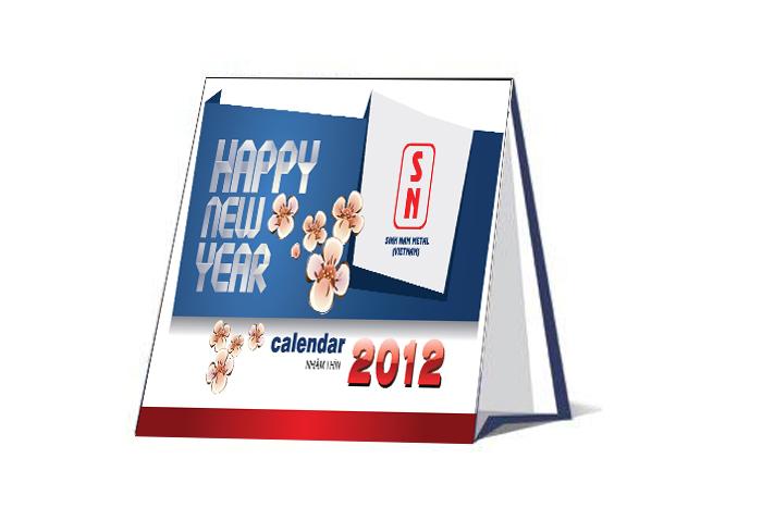 Thiết kế lịch để bàn 2012 cho Công ty Sinh Nam Metal tại Bình Dương, Hà Nội, TP HCM