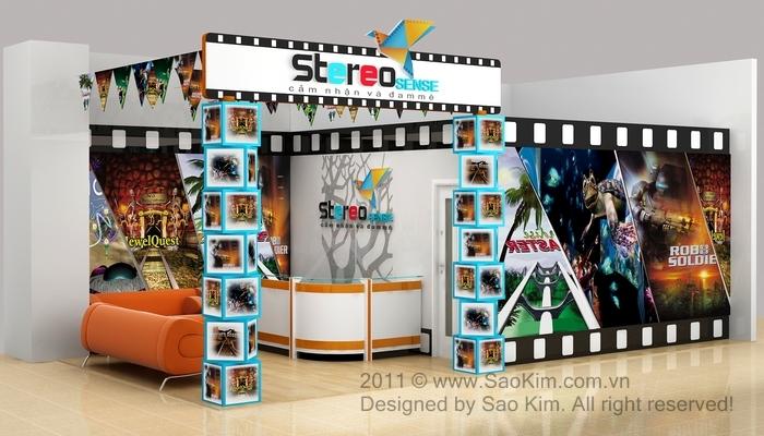 Thiết kế logo và mô hình rạp chiều phim cho Stereo Sense tại Hà Nội