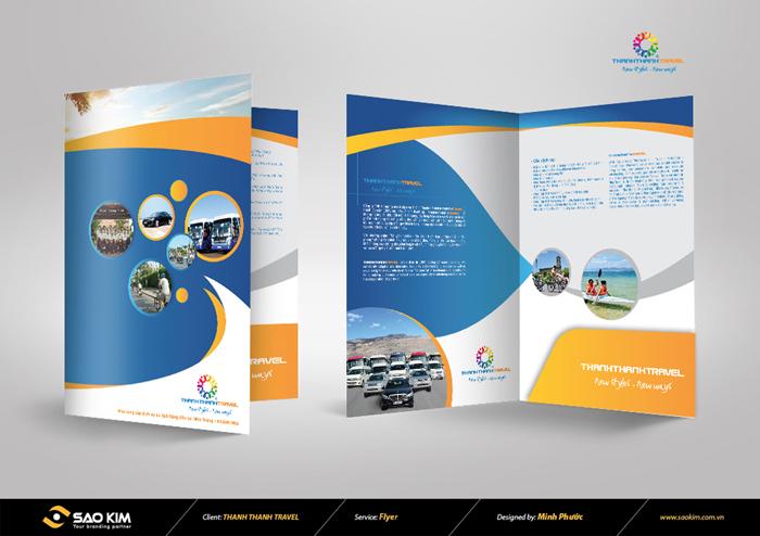 Thiết kế brochure công ty dịch vụ du lịch Thành Thành tại Khánh Hòa