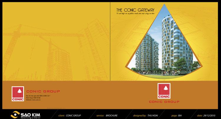 Thiết kế brochure dự án THE CONIC GATEWAY tại TP HCM