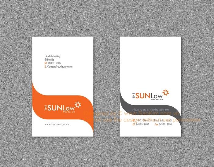 Thiết kế logo và nhận diện thương hiệu công ty tư vấn luật Sunlaw tại Hà Nội