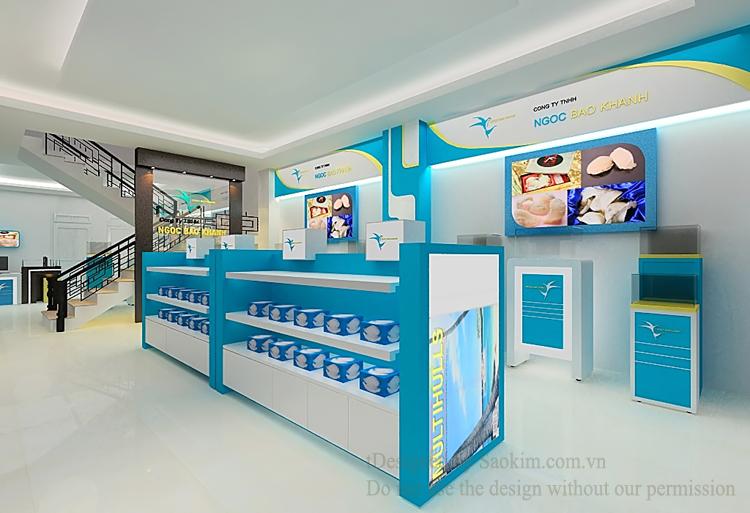 Thiết kế logo và nội thất cho công ty Ngọc Bảo Khánh tại Lâm Đồng