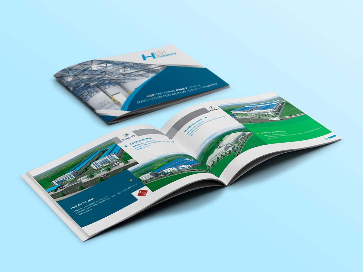 Thiết kế profile công ty tư vấn thiết kế, xây dựng Hợp Phát tại TP HCM