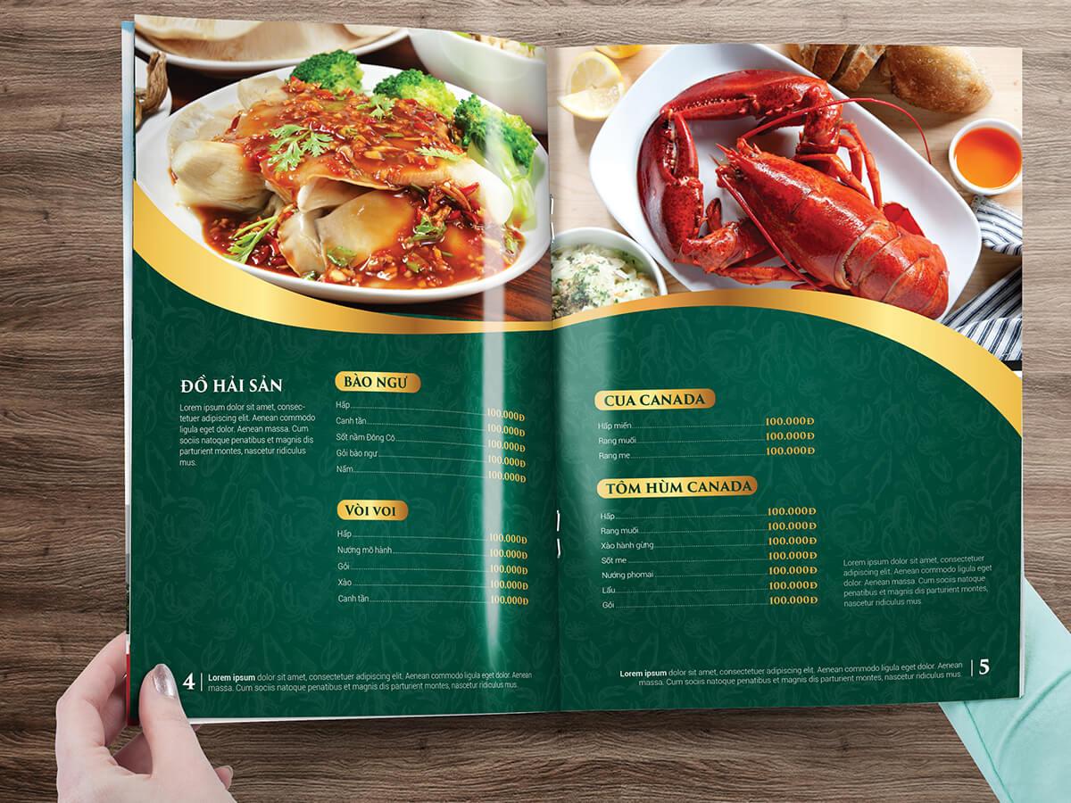 Thiết kế logo và nhận diện nhà hàng hải sản Hồng Đậm tại Quảng Ninh
