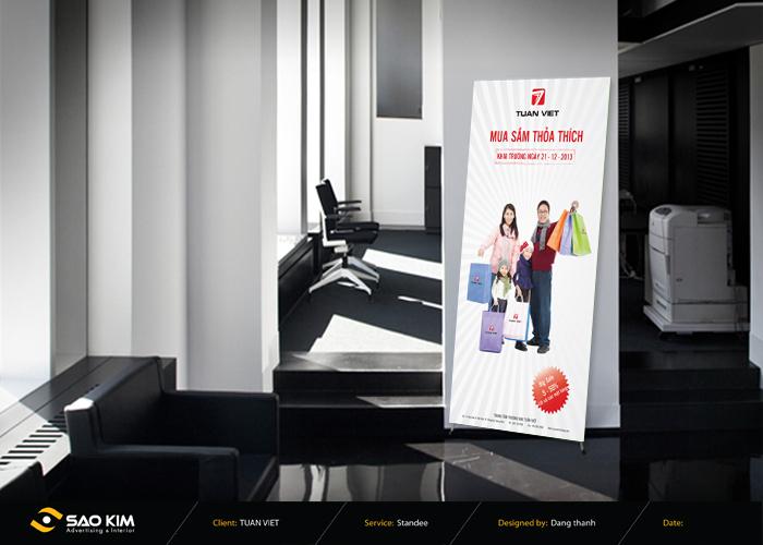 Thiết kế hệ thống nhận diện thương hiệu của Trung tâm thương mại Tuấn Việt tại Thừa Thiên Huế