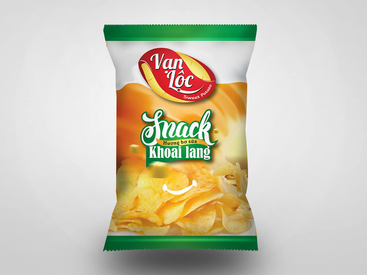 Thiết kế logo và bao bì snack khoai tây 8 Mập tại TP HCM