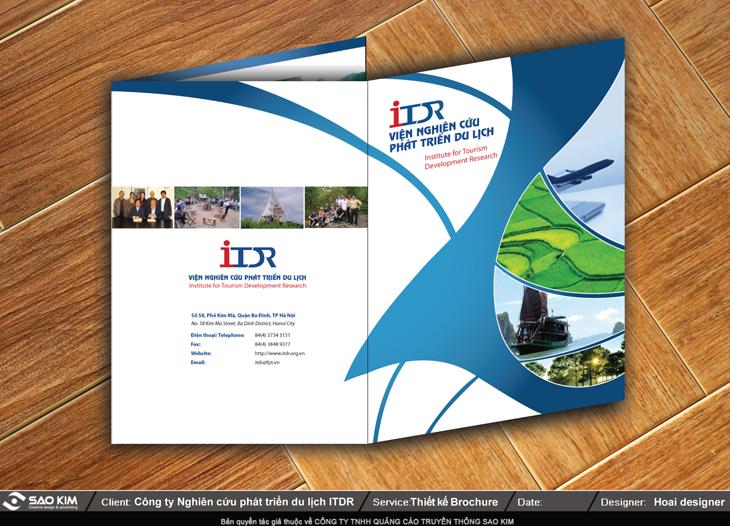 Thiết kế brochure giới thiệu viện nghiên cứu du lịch tại Hà Nội