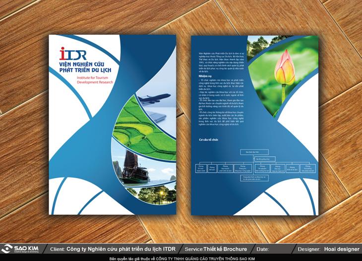 Thiết kế brochure cho Viện nghiên cứu Du lịch tại Hà Nội