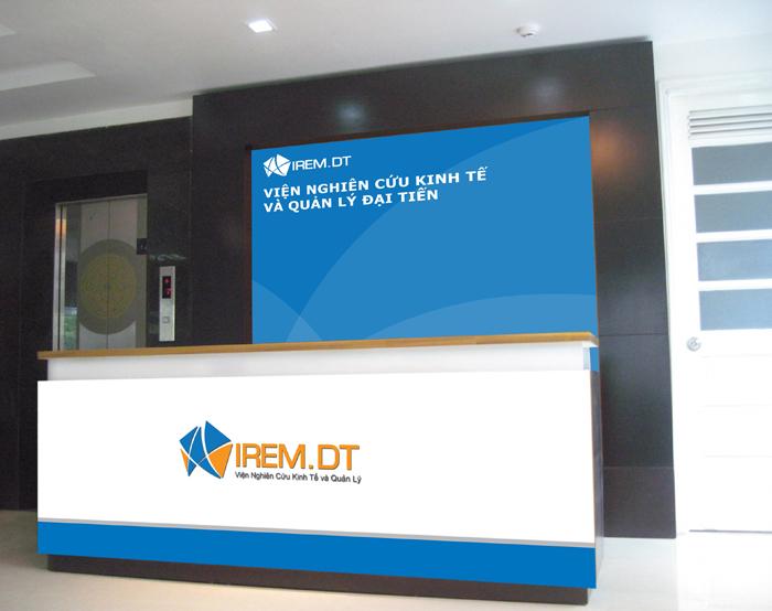 Thiết kế nhận diện thương hiệu Viện nghiên cứu kinh tế và Quản lý Đại Tiến