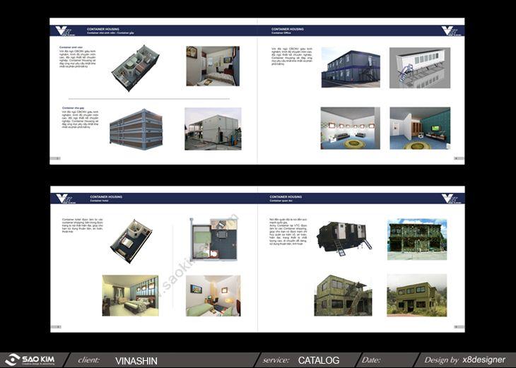 Thiết kế catalog cho công ty Vinashin - TGC Container tại Hà Nội, Hải Phòng