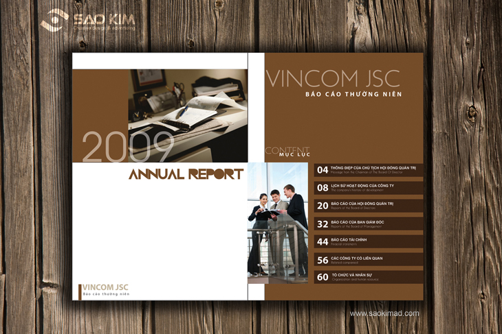 Thiết kế báo cáo thường niên cho Vincom tại Hà Nội
