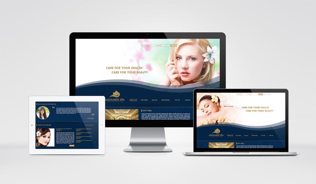 Thiết kế logo và website Aquamedi Spa tại Hà Nội