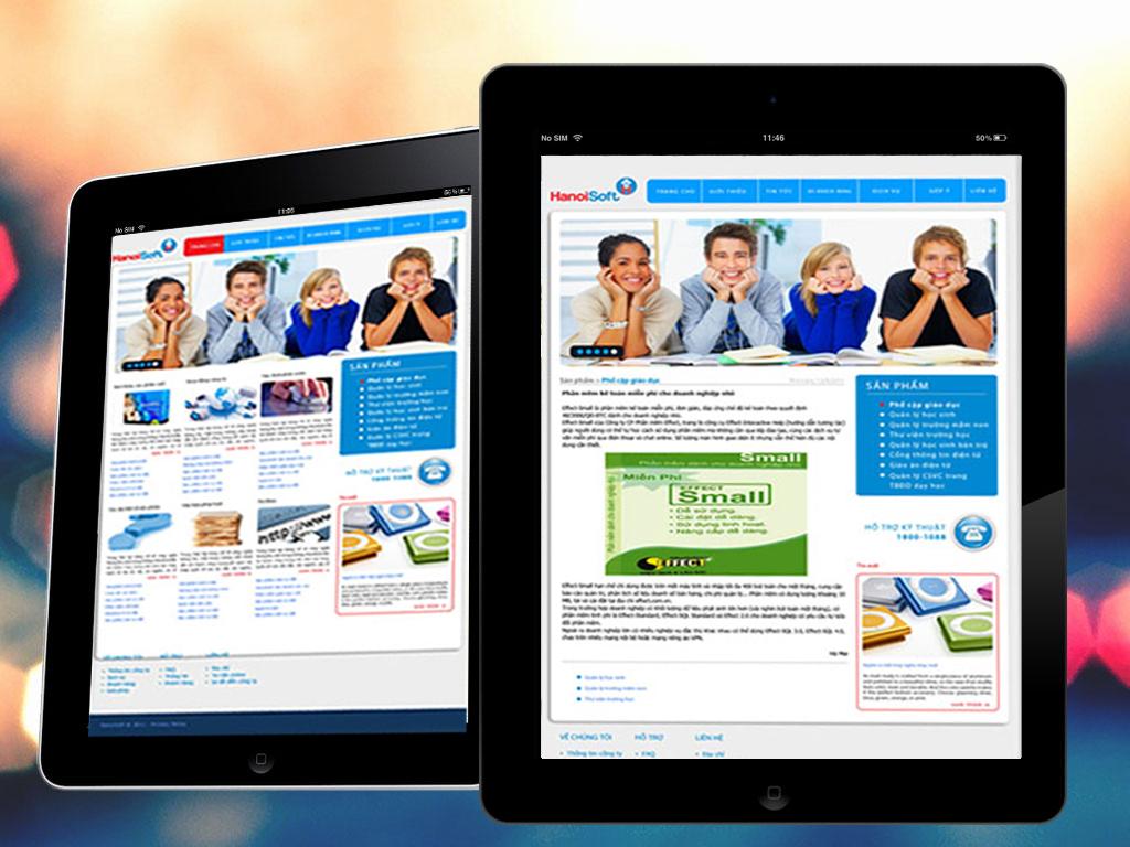 Thiết kế logo và hệ thống website cho Công ty phần mềm HanoiSoft tại Hà Nội